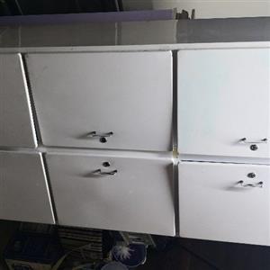 6 Door white steel cupboard
