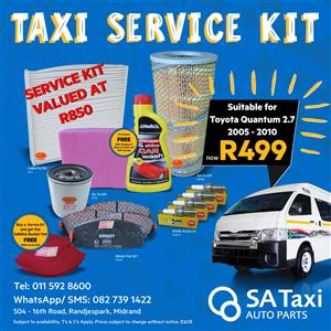 TAXI SERVICE KIT suitable for Toyota Quantum 2.7 Petrol 2005 -2010