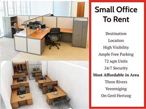 Affordable Small Office Space To Let in Three Rivers : Vereeniging