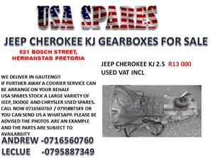 JEEP CHEROKEE KJ 2.5 GEARBOX FOR SALE