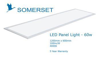 Somerset LED Panel Light 1200 x 600 60w