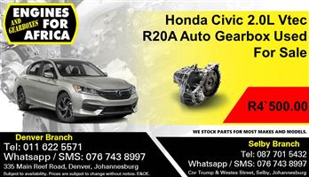 Honda Civic 2.0L Vtec R20A Auto Gearbox Used For Sale.