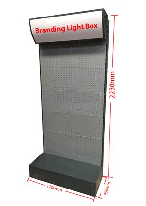 Retail Light Box Display Shelf