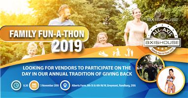 Looking for Vendors : All-Axis Family-fun-a-thon