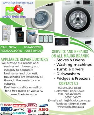 Fixx Doctors-Appliance Repairs Doctors