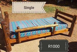 Single log bed for sale