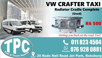 VW Crafter Radiator Cradle Complete - Used - Quality Replacement Taxi Spare Parts.