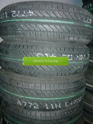 185/65/14 Dunlop New Tyres for Sale