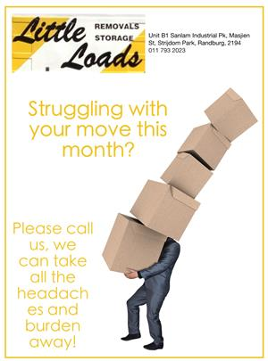 Moving? Call Little Loads Removal 011 793 2023