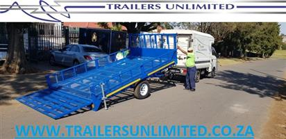 4000 X 2000 X 400 FLAT BED TRAILERS. 1500KG BRAKED AXLE.