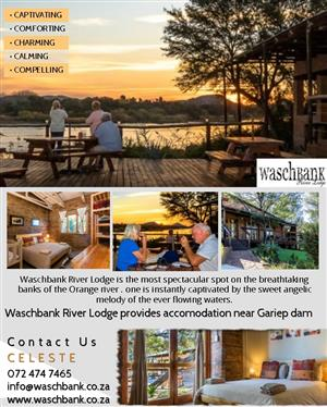 Overnight Accommodation at Waschbank River Lodge