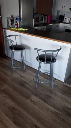 Swivel kitchen bar chairs x 2 for sale