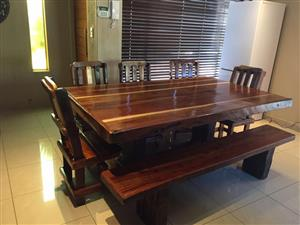 Dining room tables on special - 8 Seater Sleeper Wood Furniture