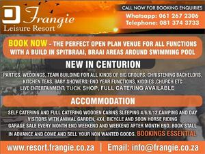 Venue Available in Centurion for Functions