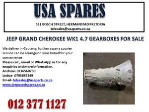 JEEP GRAND CHEROKEE WK1 4.7 GEARBOX FOR SALE