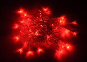 LED Decorative Fairy String Lights Waterproof Battery Operated in Red. Brand New.
