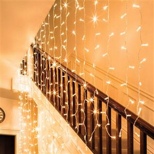 LED Decorative Fairy Curtain Lights Waterproof 220V AC in WARM WHITE. Brand New Products.
