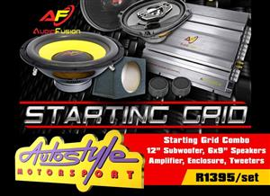 "Starting Grid Combo  -12"" Single Box - 240w Audiobank Tweeter"