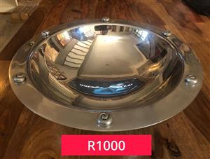 Big silver bowl for sale.