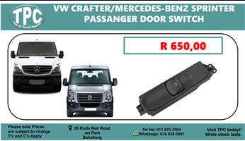 VW Crafter/Mercedes-Benz Sprinter Passanger Door Switch - For Sale at TPC.