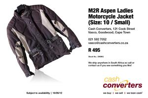 M2R Aspen Ladies Motorcycle Jacket (Size: 10 / Small)