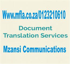 OFFICIAL DOCUMENT TRANSLATION SERVICES
