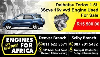 Daihatsu Terios 1.5L 3Szve 16v vvti Engine Used For Sale