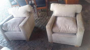 2 1 Seater gray couches