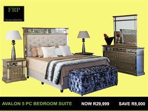 AVALON 5 PC BEDROOM SUITE FOR SALE