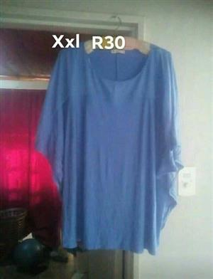 Blue poncho type blouse for sale