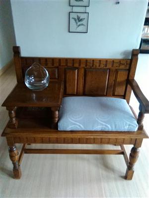 Solid Adam Bead oak furniture.