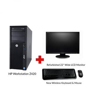 Refurbished HP Workstation Z420 Entry Designer PC