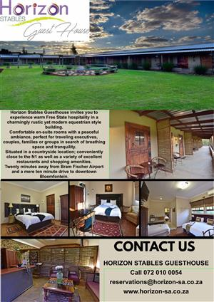 Horizon Stables Guest House