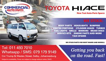 Toyota Hiace Parts and Spares For Sale.