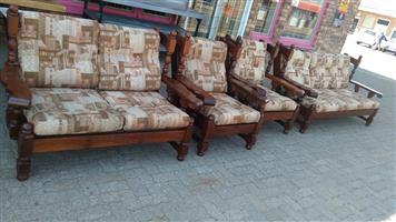 4 Piece wooden lounge suite