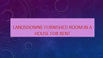 Landsdowne furnished room in a house for rent