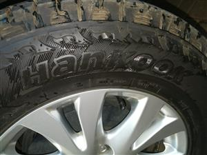 Hancook 17' tyres with Mazda mags