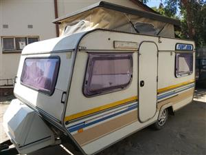 Sprite Swift caravan,lightweight and easy to tow.