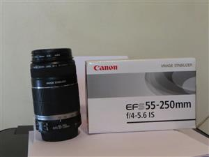 Canon 55-250mm IS zoom lens
