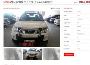 2011 Nissan Navara 2.5dCi double cab LE