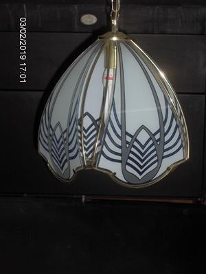 Beutiful gold plated, decorative glass, suspension light fittings
