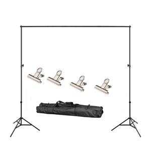 Backdrop support stand kit and white backdrop