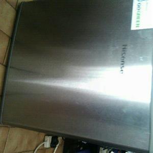 Hi Sense chrome mini bar fridge