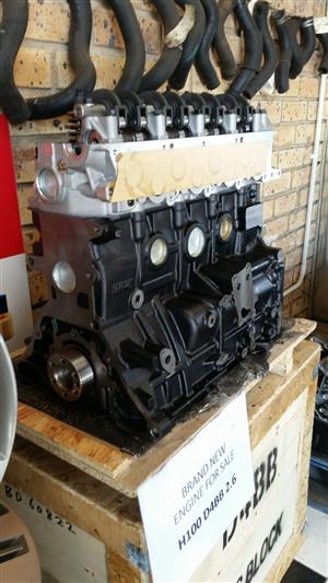 BRAND NEW HEAD / BLOCK H100 2.6 DIESEL NON TURBO R22500 plus vat