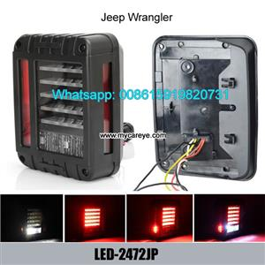 Jeep Wrangler LED Tail Lights Brake Reverse Light Rear Back Up Turn Singal Lamp DRL
