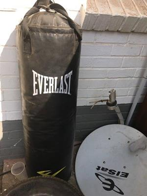 Everlast black punching bag