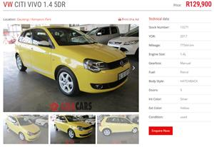 2017 VW Polo Vivo hatch 5-door POLO VIVO 1.4 TRENDLINE (5DR)