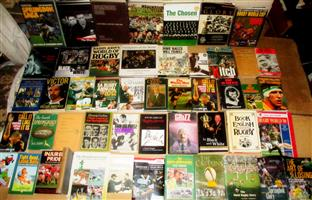 43 Rugby Books    Choose 2 or more R35 ea or make offer for all 43