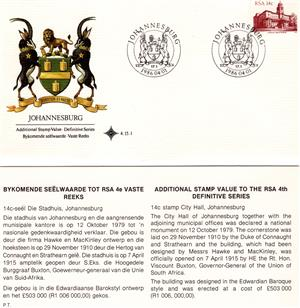 Commemorative Stamp & Envelope Set - Johannesburg 1986