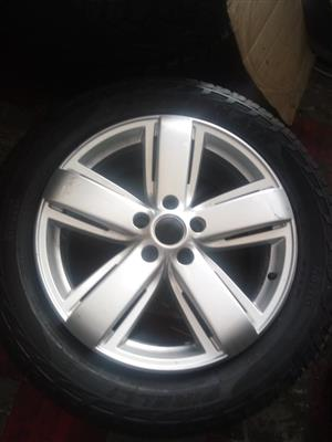 19 inch Amarok rim with 255/55/19 used tyre for spare wheel R2998.